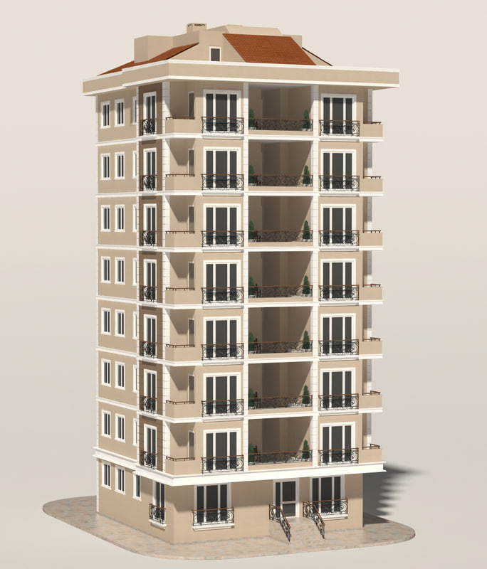3d model of building apartment