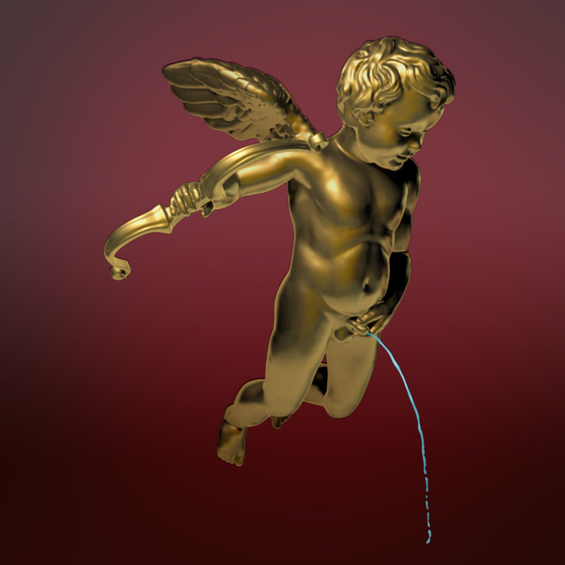 3d model sculpture cupid pis