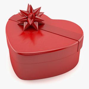 3d box heart shape model