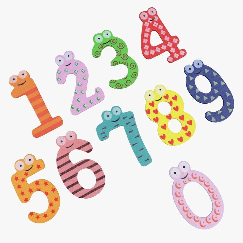 3d children magnets