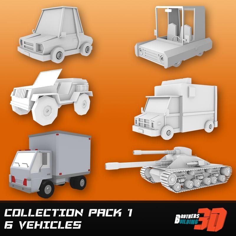 3d games car van