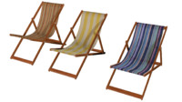 3d model deckchair deck chair