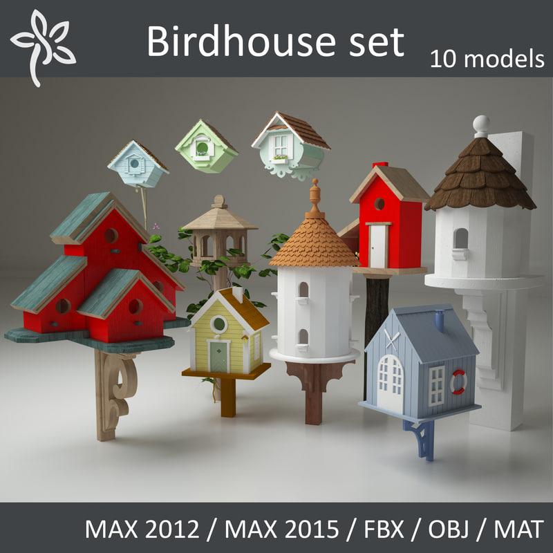 maya birdhouse bird set