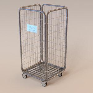 delivery cart 3d obj