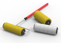 Paint roller kit with roller covers
