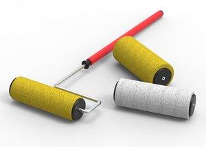paint roller covers 3d model