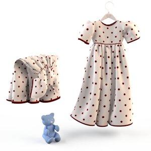 fashion child dressed 3d max