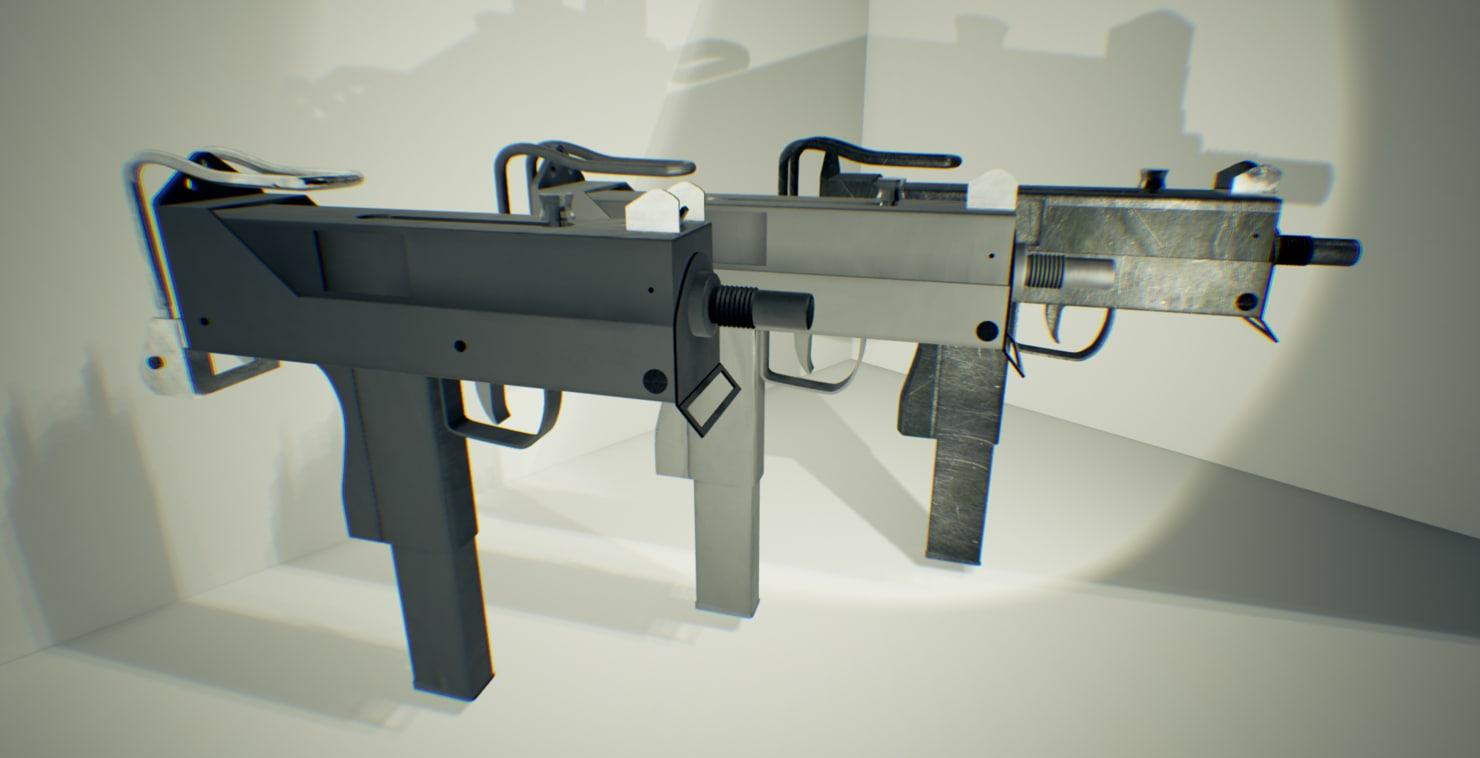 3d model micro uzi