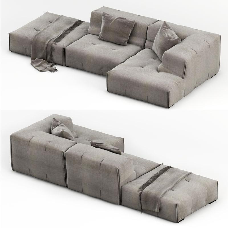 3d model sofa modelled