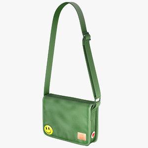 student messenger bag 3 3d max