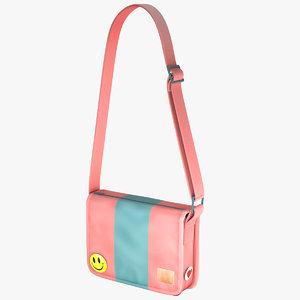 student messenger bag 5 3d obj