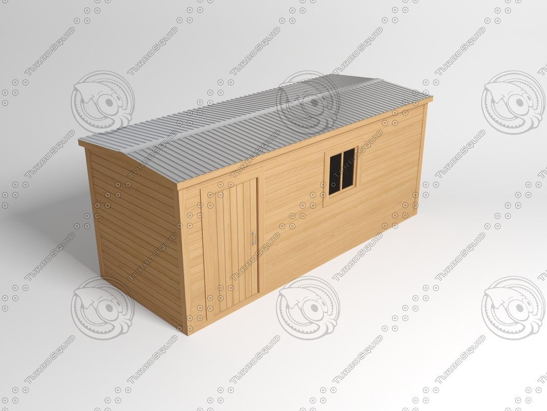 3dsmax house wooden wood