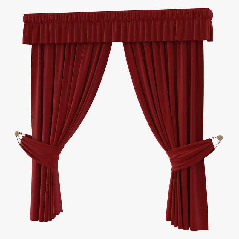 ma curtain 4 red