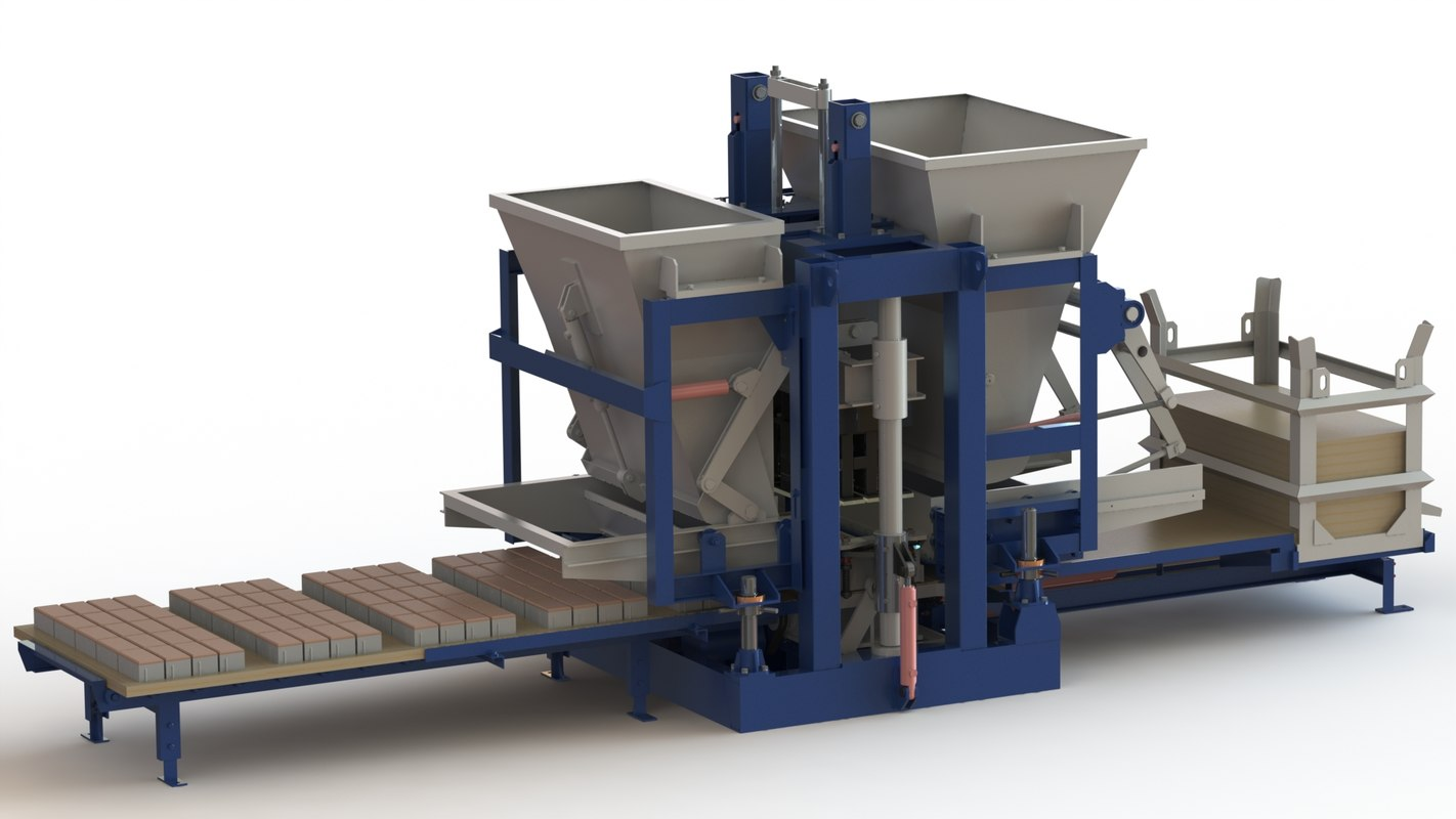 3d vibrating press model