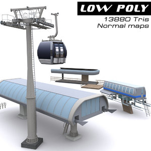3d ropeway station ready