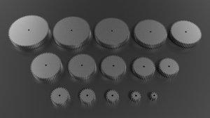 15 compatible spur gear 3d obj