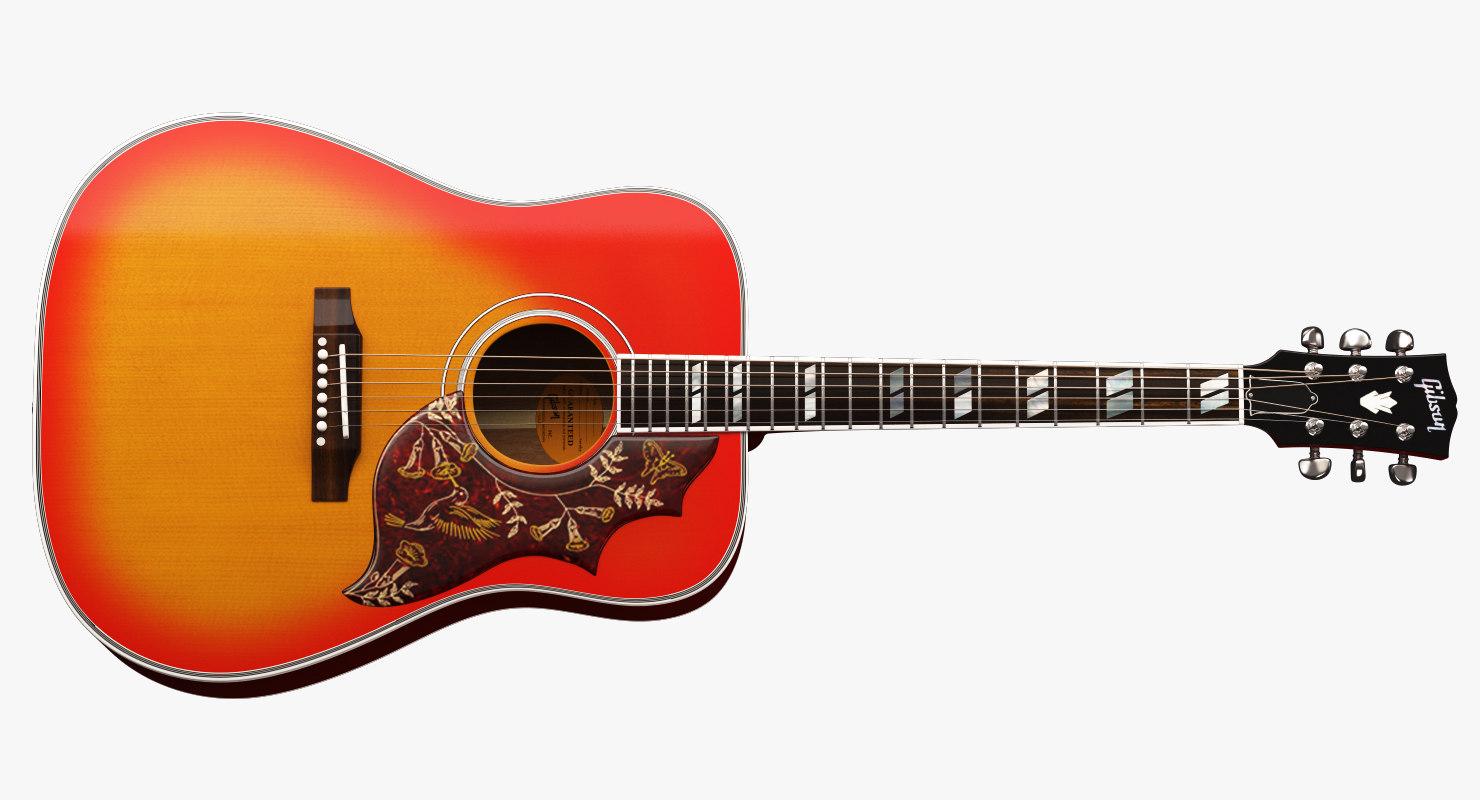 gibson guitar 3d max