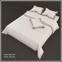 3d model of bed linen accessories