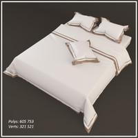 3d model of bed linen accessories