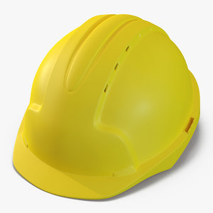 safety helmet yellow 3d max