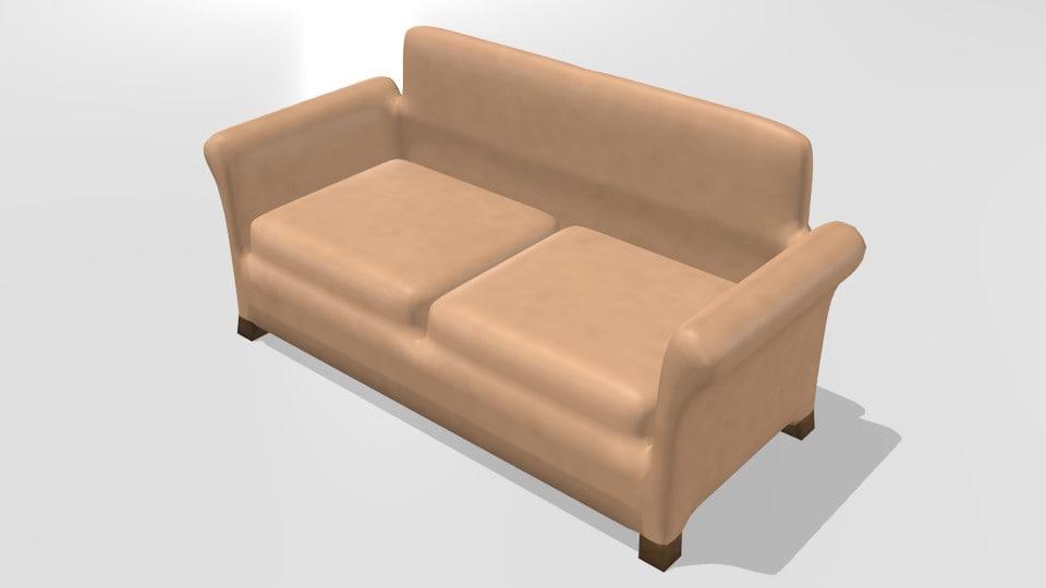 3ds simple sofa