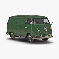 volkswagen type 2 panel 3d max