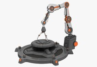 industrial robot arm 3d obj