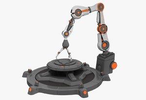 industrial robot arm 3d obj