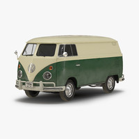 volkswagen type 2 panel obj