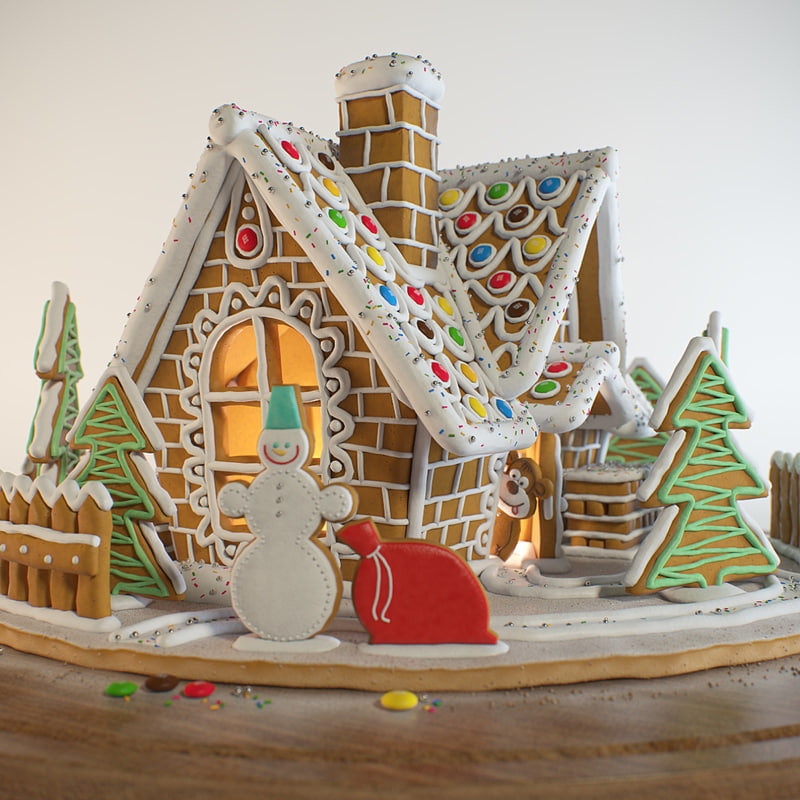 3d gingerbread house