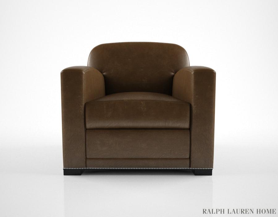 3d model ralph lauren grant chair