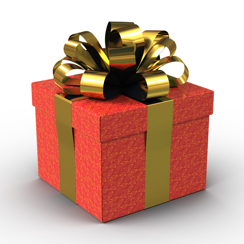 giftbox red 3d model