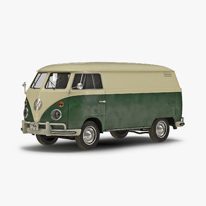 3ds max volkswagen type 2 panel