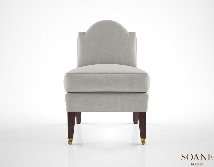 3d model of soane thecub chair