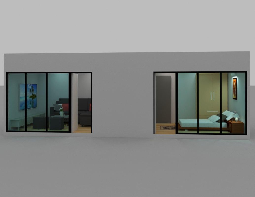 3d house interior