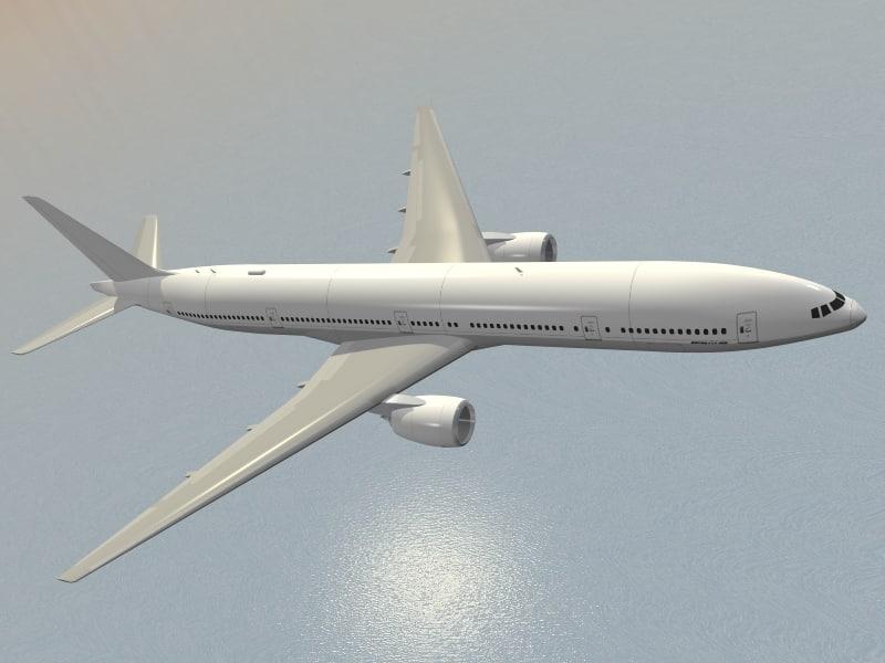 b 777 jet airliner 3d model
