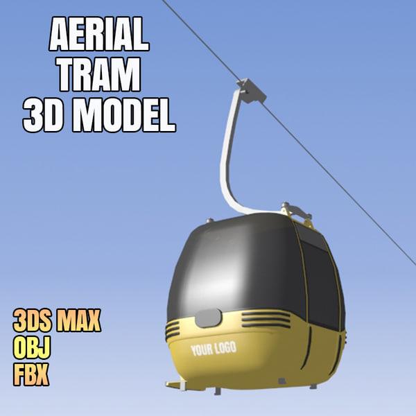 aerial tram 3d obj