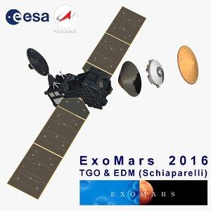3d model exomars tgo mars