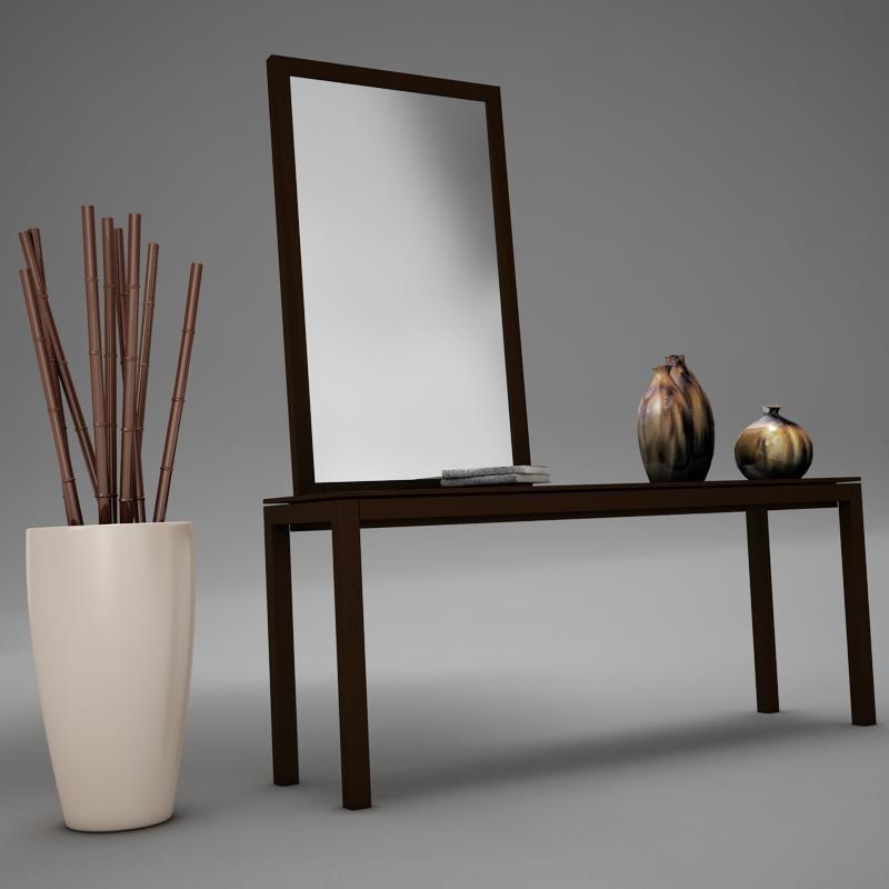 table mirror 3d model