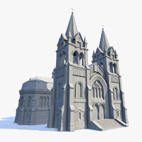 Cathedral Low Poly Untextured
