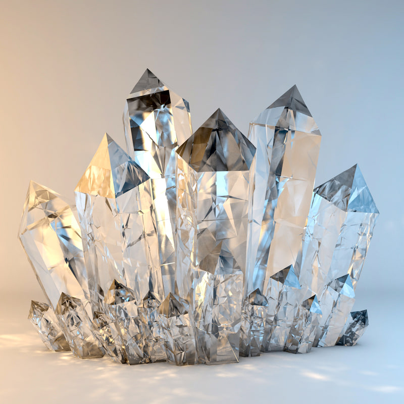 crystals object 3d c4d