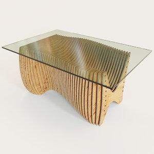 3d parametric kitchen table