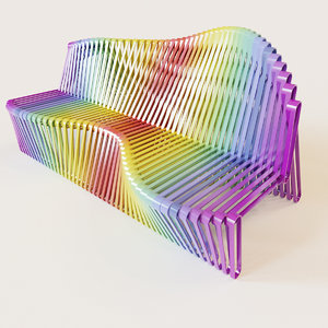 3d parametric color bench