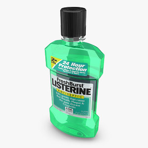 listerine fresh burst 3d model