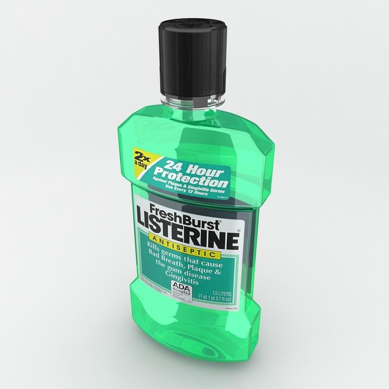 listerine fresh burst 3d model
