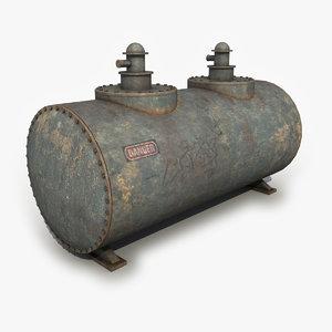 old oil tank x