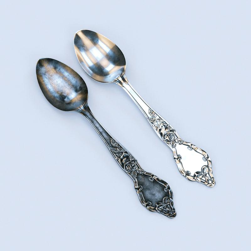 3d model spoons corona