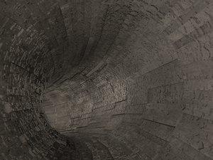 sci-fi tunnel 3d c4d