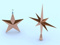 3d model of star tree topper