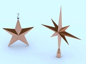 3d model of star tree topper